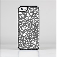 The Gray & White Floral Sprout Skin-Sert Case for the Apple iPhone 5c