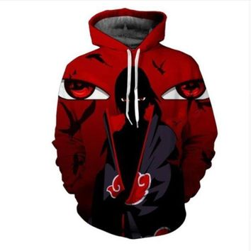 Newest Fashion Womens/Mens Naruto Sasuke Funny 3D Print Casual Hoodies Pullovers Sweatshirts LMS0042