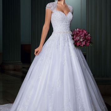 Ball Gown Open Back Lace Wedding Dresses Luxury Bridal Dresses Imported Wedding Dress U-210