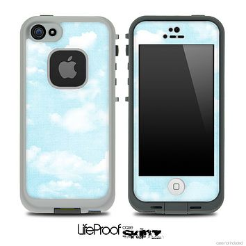 Vintage Blue Cloudy Skin for the iPhone 5 or 4/4s LifeProof Case