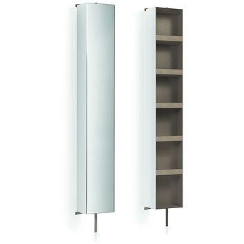 LB Linen Tower 360 Degree Rotating Floor Cabinet with Full-Length Mirror