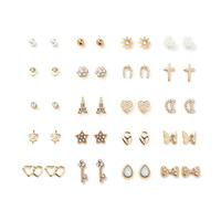 Butterfly and Heart Stud Set