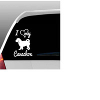 I Love My Cavachon/Cavachons Car Window Decal