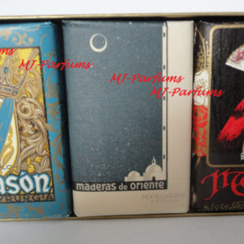 Collectors-item: Jabones, Soaps, Maja, Maderas, Flor De Blason De Savons Myrurgia made in Spain 6x21g, hard-case box