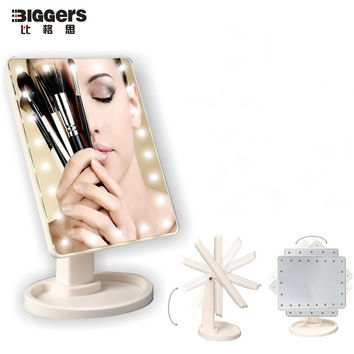 Free shipping touch screen 22 lamps LED makeup mirror large size Beauty table mirror Pink/white/black color