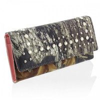 MOSSY OAK TRI-FOLD WALLET IN MO/PK  A