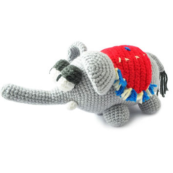 Gray Elephants Handmade Amigurumi Stuffed Toy Knit Crochet Doll VAC