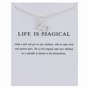 Jewelry Shiny Stylish Gift New Arrival Lock Gold Silver Unicorn Alloy Necklace [10375467540]