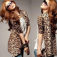 Fashion Women's Casual Leopard Batwing Sleeve Blouse Cardigan Tops Shirt (Size: One Size, Color: Leopard print) = 1946646660