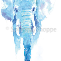 Elephant Dreams - Watercolor Painting Wild and Beautiful Beasts