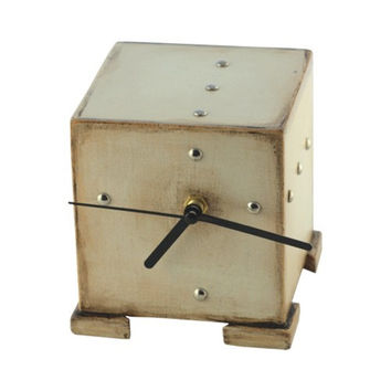 Wooden CLOCK cube - FREE SHIPPING