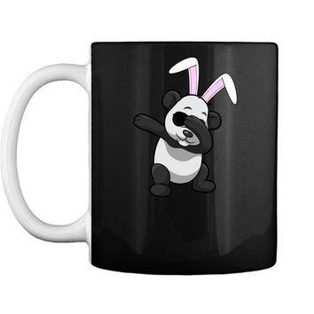 Dabbing Easter Bunny Shirt Panda Ears Dab Boys Girls Kids Mug