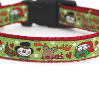 Snowman and Friends Dog Collar
