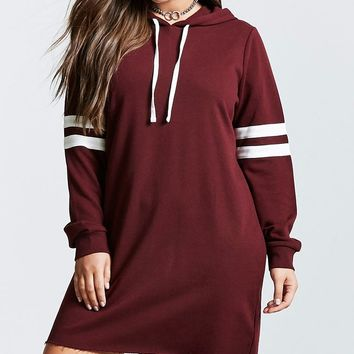 Plus Size Sweatshirt Dress