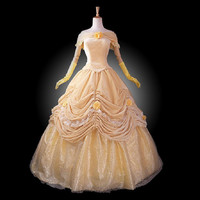 adult princess belle costume women Beauty and the Beast costume cosplay halloween costumes for women velour Prom dress