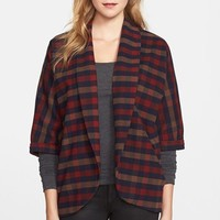 Olive & Oak Plaid Open Front Jacket | Nordstrom