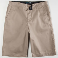 Blue Crown Classic Mens Chino Shorts Vintage Khaki  In Sizes