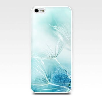 dandelion iphone case 5s botanical iphone case 4s abstract iphone case iphone 4 iphone 5 pastel blue iphone girly case nature iphone case