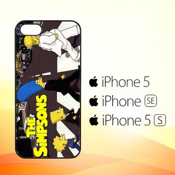 THE SIMPSONS a Tribute The Beatles F0814  iPhone 5|5S|SE Case