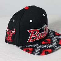Custom Chicago Bulls Snapback  Aztec Fabric by KeyAcquisitions