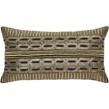 Mundo Metallic Decorative Pillow