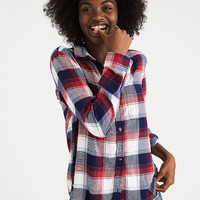 AEO Ahh-Mazingly Soft Plaid Boyfriend Shirt, Multi