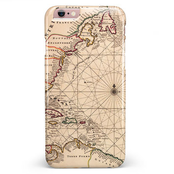 The Vintage Amerique Overview Map iPhone 6/6s or 6/6s Plus INK-Fuzed Case