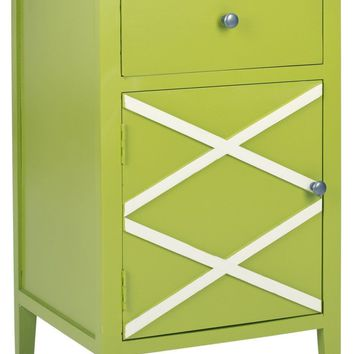 Alan End Table Lime Green