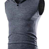 Plain Sleeveless Hooded Tee