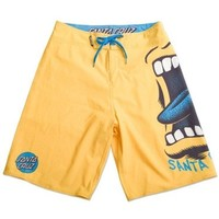 Santa Cruz Mens Big Hand Boardshorts Yellow