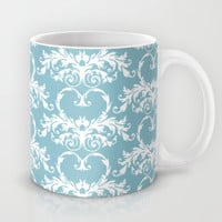 Blue Hearts Mug by Susan Weller
