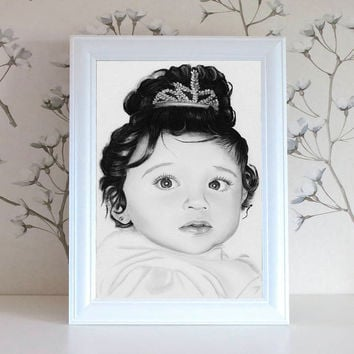 Custom Portrait Drawing Pencil Graphite from Photo