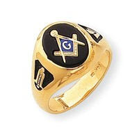 Men's Onyx Masonic Ring