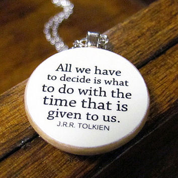 $22.50 Lord of the Rings Necklace with Inspirational by BookishCharm