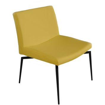LENOX Collection Dijon Yellow Eco-leather Accent Chair TC-271-Y by Casabianca Home