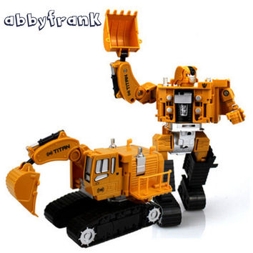 Engineering Transformation Robot Car Deformation Toy 2 in 1 Forklift Alloy Construction Vehicle Truck Assembly Robot Toy for Kid