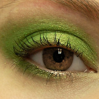 Lime Green Glitter Eyeshadow RADIOACTIVE Mineral MINI by BLSoaps