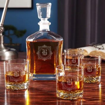 Winchester Personalized Whiskey Decanter Set