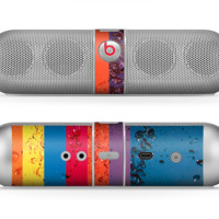 The Rainbow Colored Water Stripes Skin for the Beats by Dre Pill Bluetooth Speaker