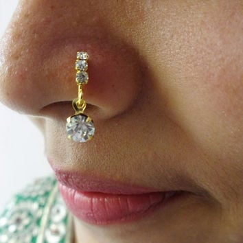 Best Indian Nose Piercing Jewelry Products on Wanelo