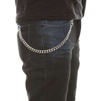 "Silver 12"" Basic Wallet Chain"