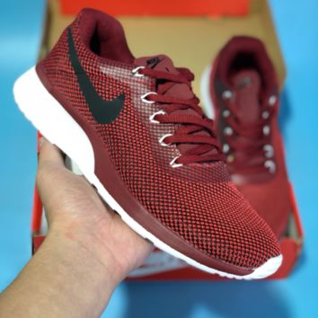 KUYOU N589 Nike Roshe 3.0 Flyknit MD Casual Running Shoes Red