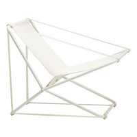 Cricket II | Folding Lounge Chair in White - Brown Jordan