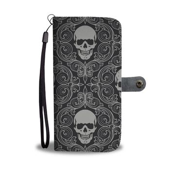 Skulls Phone Wallet Case