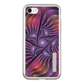 Colorful Fantasy Abstract Modern Purple Fractal Incipio DualPro Shine iPhone 7 Case