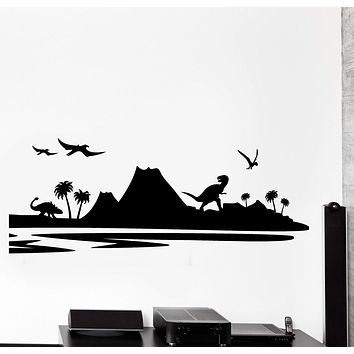 Vinyl Wall Decal Dinosaur Dino Children Nursery Kids Home Decor Unique Gift z4442