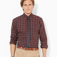 Polo Ralph Lauren Plaid Twill Shirt - Maroon/Navy
