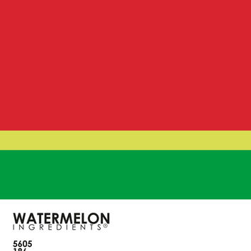Pantone Fruit - Watermelon Art Print by Budi Satria Kwan