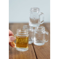 Mason Jar Shot Glasses with Handle, Set of 4
