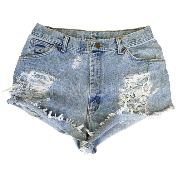 Levis High Waisted Denim Shorts Low Rise from DENIMxDENIM on Etsy